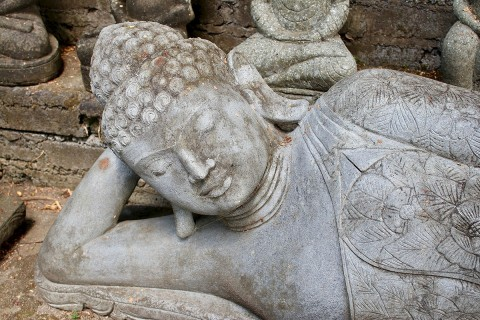 Liegender Buddha 210 cm Kopf