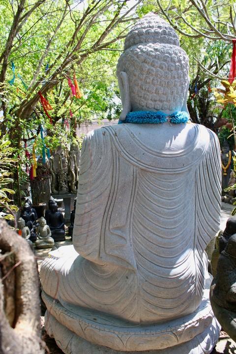 Buddha Statue 210 cm Rückansicht