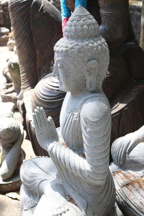Buddha Statue 115 cm Seitenansicht